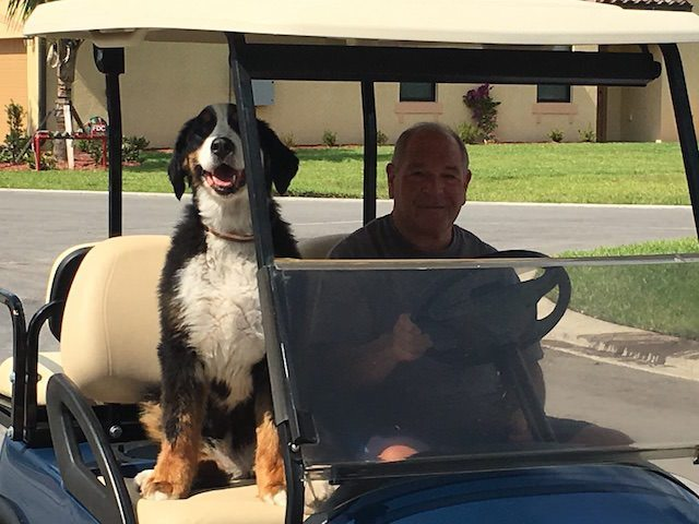Judge Mike With His Dog Kasey