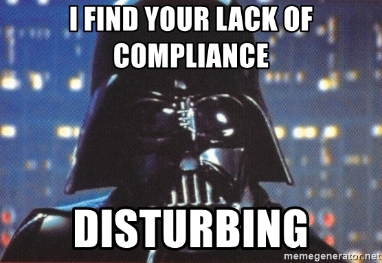 Darth Vader Veterinary Compliance